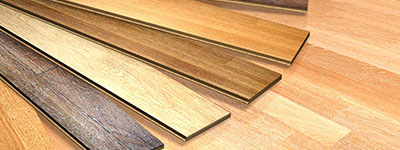 Laminate and solid wood flooring